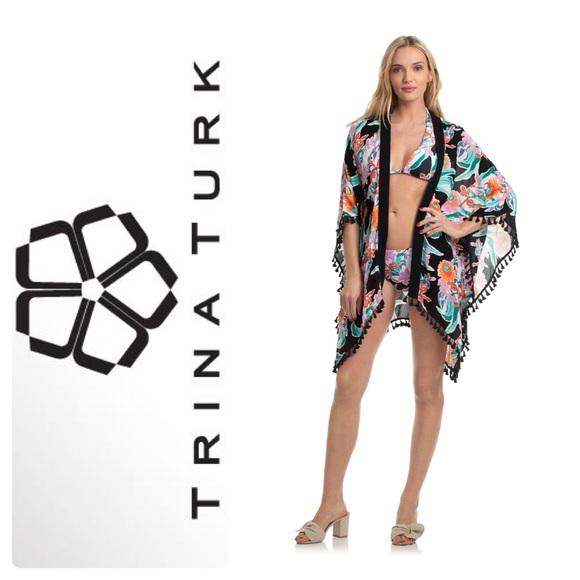 768ceca700 New Trina Turk Tropic Wave Kimono Swim Cover-Up Boutique